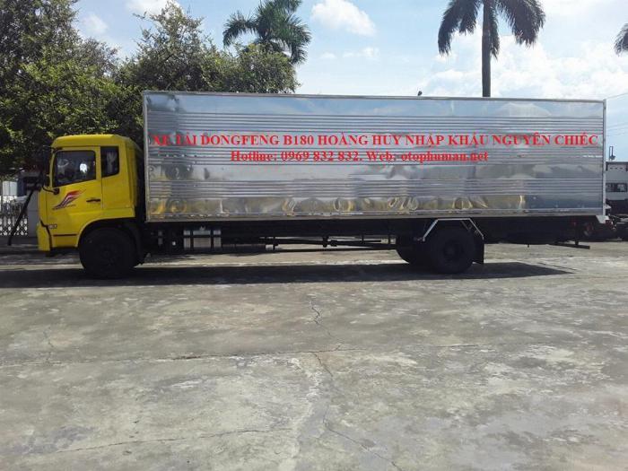 Báo giá xe tải Dongfeng B180 8 - 9 Tấn thùng bạt, Thùng kín 7,5m và 9,5m, có xe giao ngay, cam kết giá tốt nhất 9