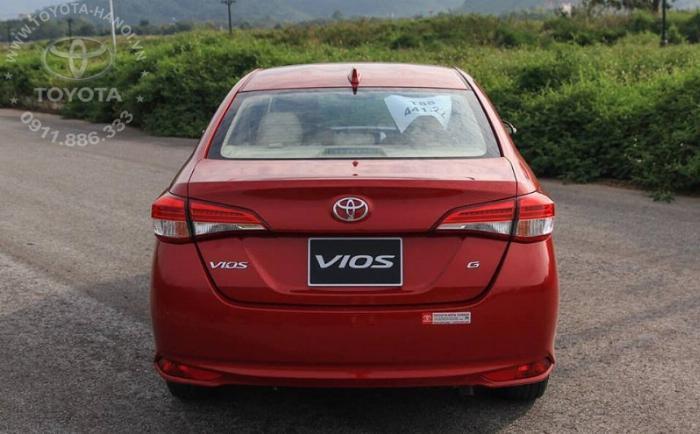 Bán Toyota Vios 1.5G màu đỏ, xe giao ngay, giá Tốt nhất Miền Bắc, Hỗ trợ trả góp 80% 12