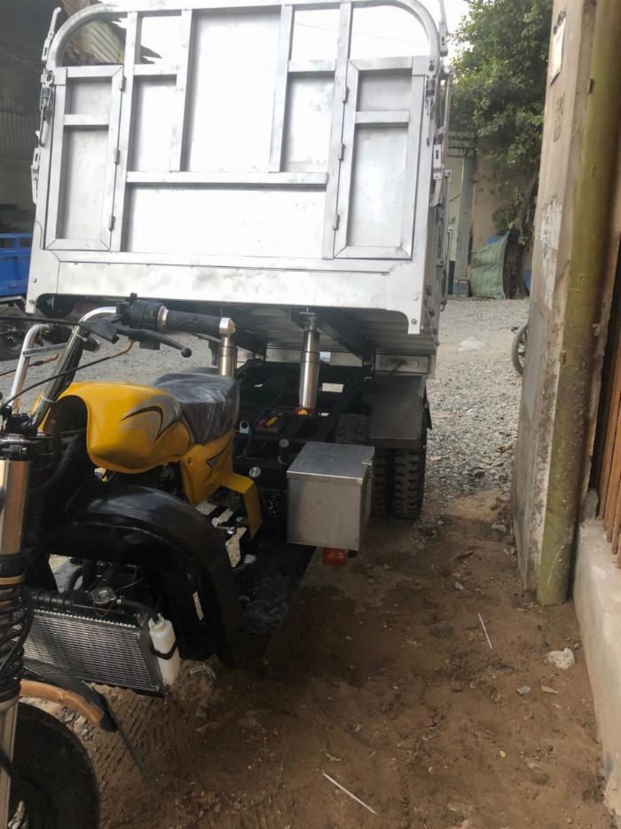 Xe Ba Bánh Hoàng Quân T&T FHUSHIDA có ben chuyên chở vật liệu xây dựng 3