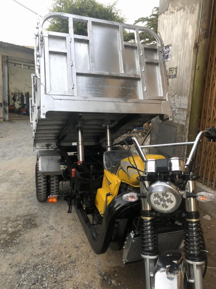 Xe Ba Bánh Hoàng Quân T&T FHUSHIDA có ben chuyên chở vật liệu xây dựng 4