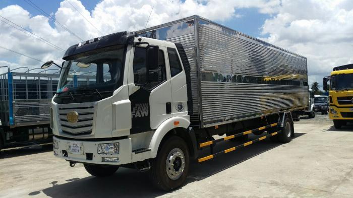 Giá xe tải faw 7.2 tấn thùng kín chở cấu kiện điện tử, mút xốp | Khuyến mãi 20 triệu tháng 5 2