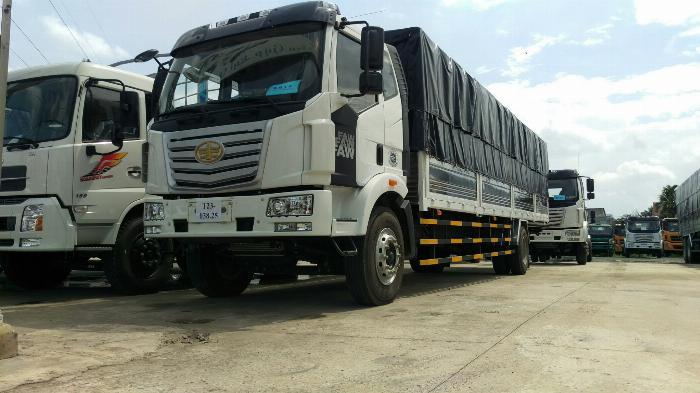 Giá xe tải faw 7.2 tấn thùng kín chở cấu kiện điện tử, mút xốp | Khuyến mãi 20 triệu tháng 5 3