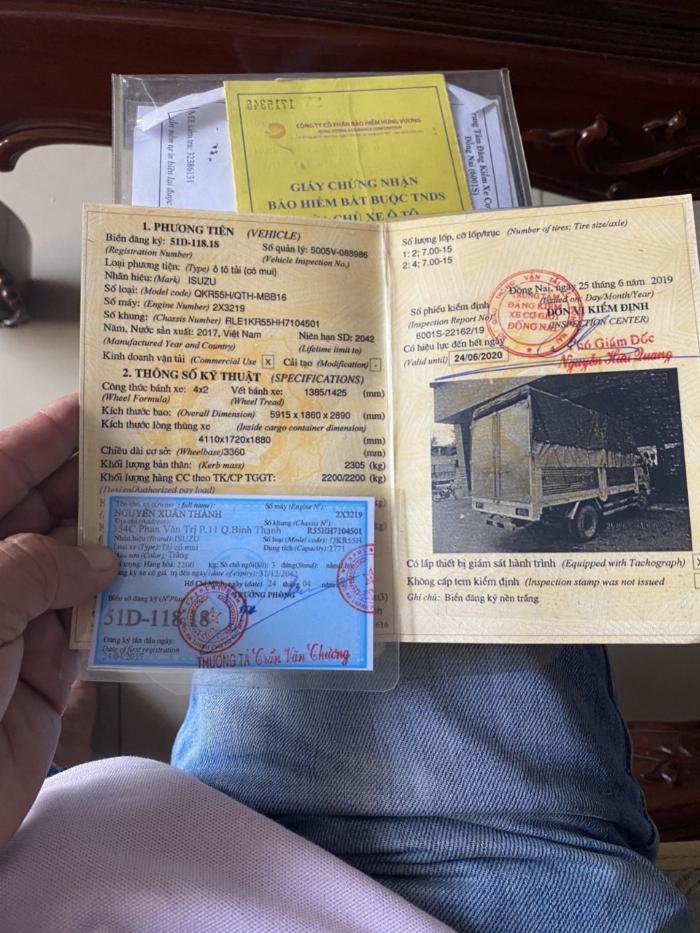 Bán Xe Tải Cũ Isuzu QKR 270 1.9 Tấn Đời 2017 Mui Bạt - hỗ trợ trả góp