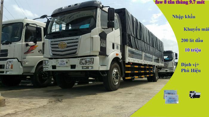 Đại lý xe tải faw 8 tấn - thùng siêu dài 10 mét chở cấu kiện điện tử | Hỗ trợ trả góp 4