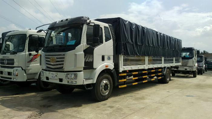 Đại lý xe tải faw 8 tấn - thùng siêu dài 10 mét chở cấu kiện điện tử | Hỗ trợ trả góp 0