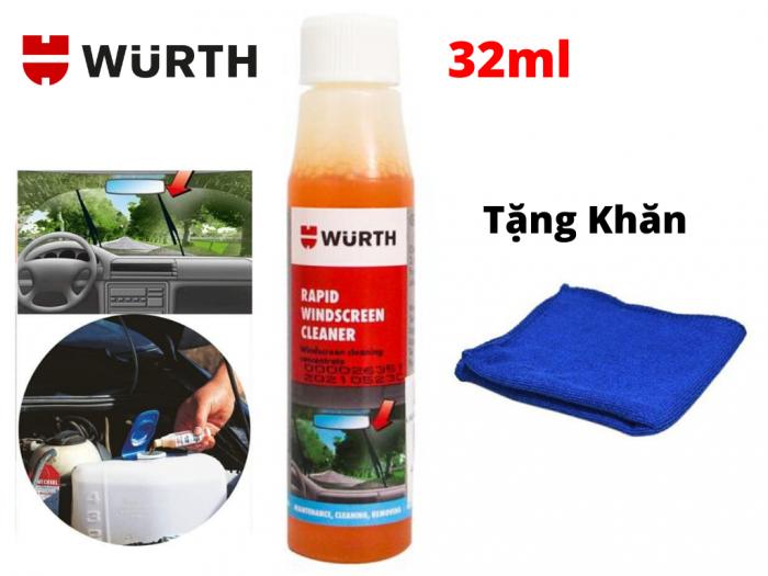 Dung Dịch Vệ Sinh Kính Lái Wurth Rapid Windscreen Cleaner 32ML Tặng Khăn