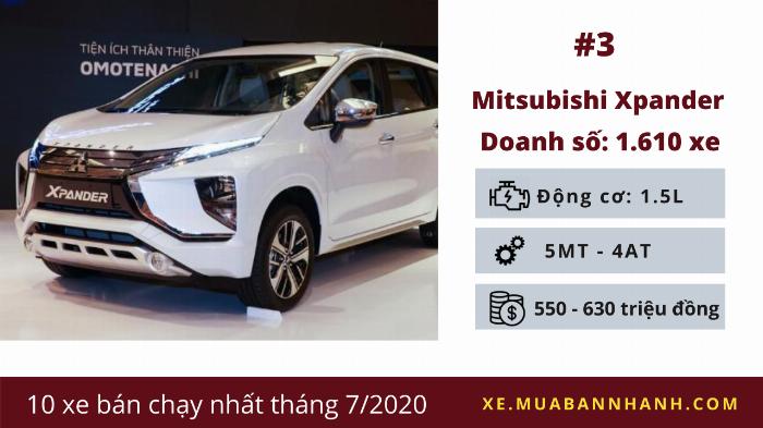Mitsubishi Xpander: Doanh số 1.610 chiếc