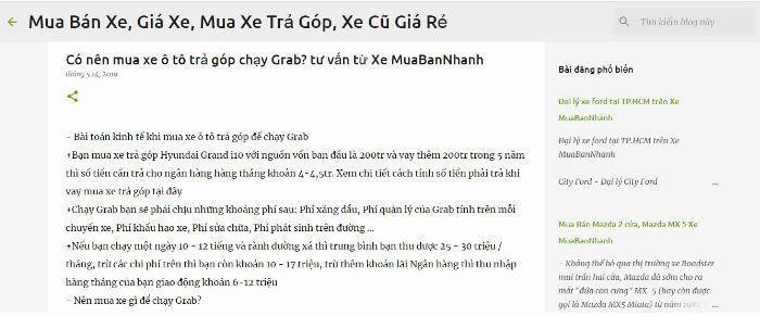 Blogspot Xe MuaBanNhanh