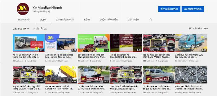 kênh Youtube của Xe MuaBanNhanh