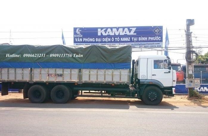 Tải thùng 3 giò Kamaz / Bán tải thùng Kamaz 65117 (6x4) 7m8