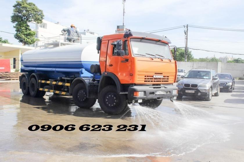 Xe tưới nước Kamaz 12,8m3   Xe bồn nước Kamaz  Kamaz tới nước 12m3