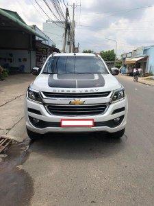 Gia đình cần bán Chevrolet trailblazer 2018 LTZ, máy dầu, hai cầu, màu trắng