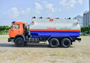 Xe bồn xăng dầu 18 khối, xe bồn chở xăng dầu 3 chân, xe bồn xăng dầu kamaz