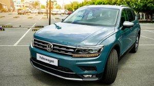 BÁN XE Volkswagen TIGUAN LUXURY XANH 2020 mới nhất, SUV 7 chổ, nhập khẩu ĐỨC