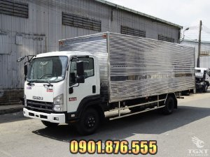 Isuzu FRR90NE4 6 tấn thùng kín dài 6m7 hỗ trợ vay cao toàn quốc