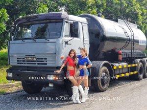 Xe nhựa đường Kamaz 17m3 | Giá bán xe nhựa đường nóng 4 chân 17,2m3