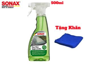 Dung Dịch Rửa Kinh Siêu Sạch ,Rửa Gương Rửa Đèn Sonax 338241 500ml Tặng Khăn