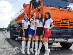 Bán xe bồn dầu Kamaz 23m3 Nhập khẩu   Bán xe bồn Kamaz 4 giò tại Bình Dương