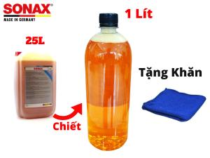 Nước Rửa Xe Sonax Đậm Đặc Sonax Gloss Shampoo 1000ml 314300 Chiết Từ Bình 25l Tặng Khăn-314300