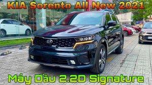 KIA Sorento 2021 2.2D Signature màu Xanh Đen giao trong năm.