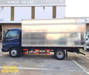 Xe tải Thaco Ollin 490 2021 thùng kín, tải trọng 2,1T, xe tải nhẹ giá rẻ - chất lượng bền bỉ - vận hành tốt.