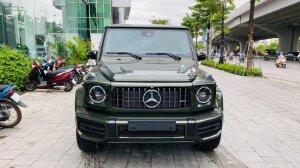 Bán Mercedes-Benz G63 AMG màu xanh bộ đội cực đẹp, sản xuất 2021, có xe sẵn giao ngay.
