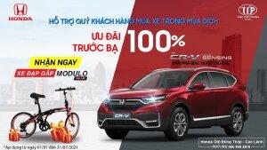 Honda CR-V tặng 100% phí trước bạ, cùng nhiều phụ kiện chính hãng