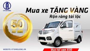 xe van srm x30 bán trả góp 80%