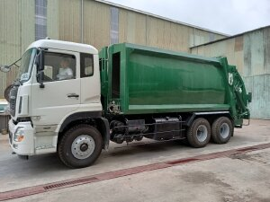 Bán xe cuốn ép rác 3 chân thùng 20 khối tải gần 10 tấn hãng dongfeng