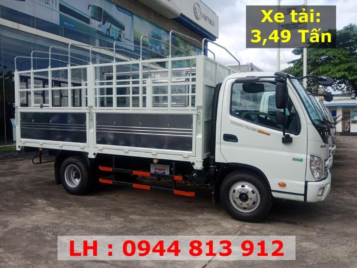 Cần bán xe tải 3,5 tấn Thaco Ollin 350 E4. Thùng bạt. Đời 2018. Tại Bình Dương