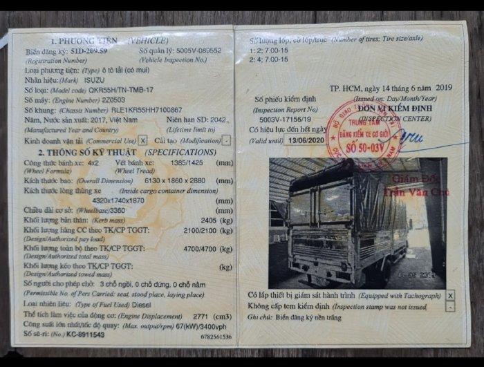 Bán xe Tải Cũ QKR 270 Thùng 4M3 2017 Trả Góp 6