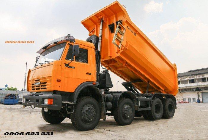 Bán Xe ben Kamaz 6540 (8x4) / Bán Xe ben 20 tấn Kamaz 15m3  tại Bình Dương 8