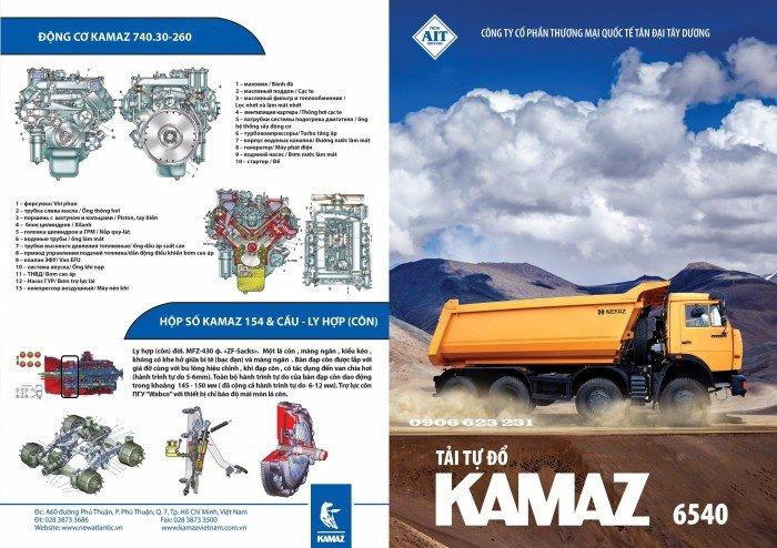 Bán Xe ben Kamaz 6540 (8x4) / Bán Xe ben 20 tấn Kamaz 15m3  tại Bình Dương 16