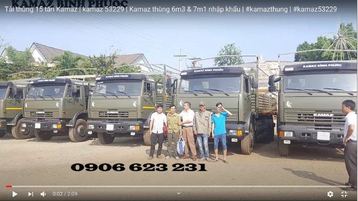 Bán xe tải thùng 15 tấn Kamaz, Bán xe tải thùng Kamaz 53229 thùng  6,3m nhập khẩu mới nhất 2020