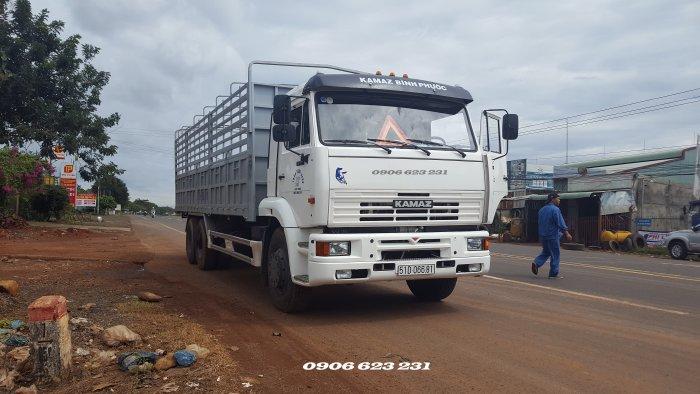 Tải thùng Kamaz 14 tấn ? Bán xe tải Kamaz 3 chân thùng 7m8
