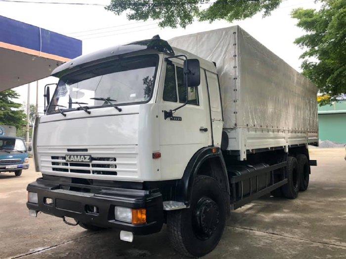 Xe tải Kamaz 15 tấn   Bán tải thùng Kamaz 3 chân mới nhất [thùng 6m3, 7m1, 9m] Hỗ trợ trả góp lên đến 80%
