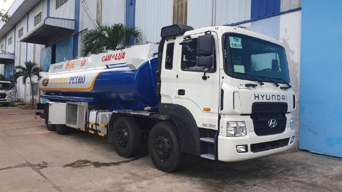 Xe tải HD320 bồn chở xăng dầu Xitec 22 khối chất lượng cho khách hàng!
