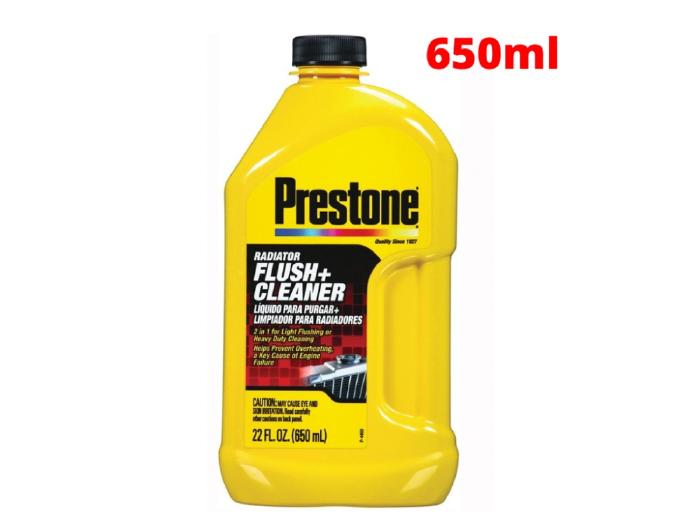 Dung Dịch Vệ Sinh Làm Sạch Két Nước Xe Prestone Radiator Flush Cleaner 650ml