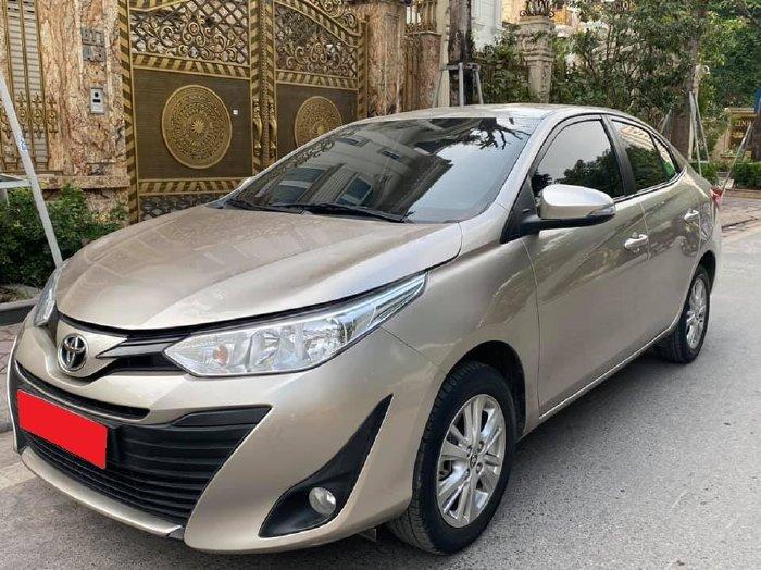 Toyota Vios 2019 dòng E, tự động, màu vàng cát