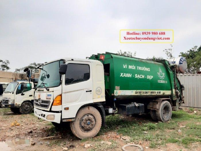 Bán Xe Cuốn ép rác cũ hino 6 tấn tại Hà Nội
