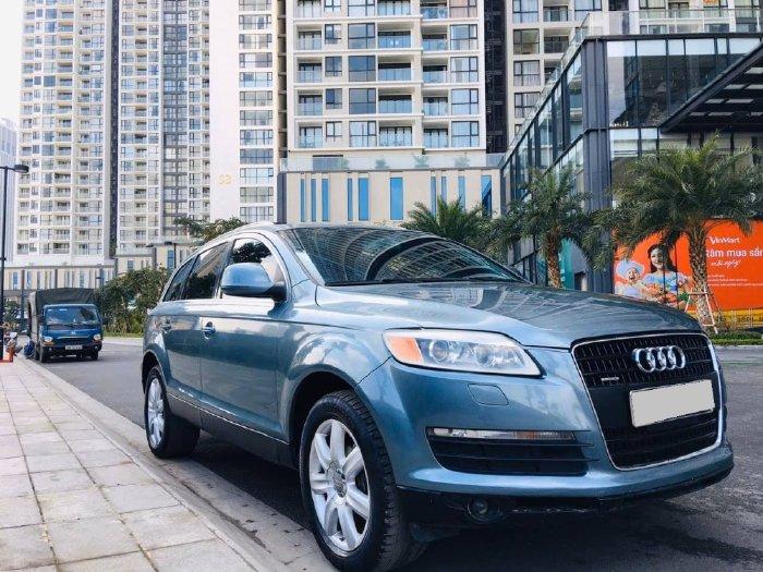 Bán Audi Q7 premium quatro 2006, số tự động 3.6, màu xanh đá