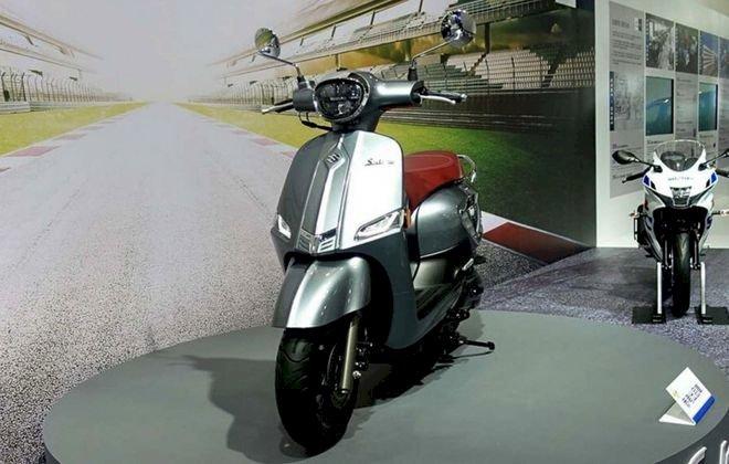 Xe tay ga Suzuki Saluto 125 dáng cổ điển, tham vọng cạnh tranh Vespa(1)
