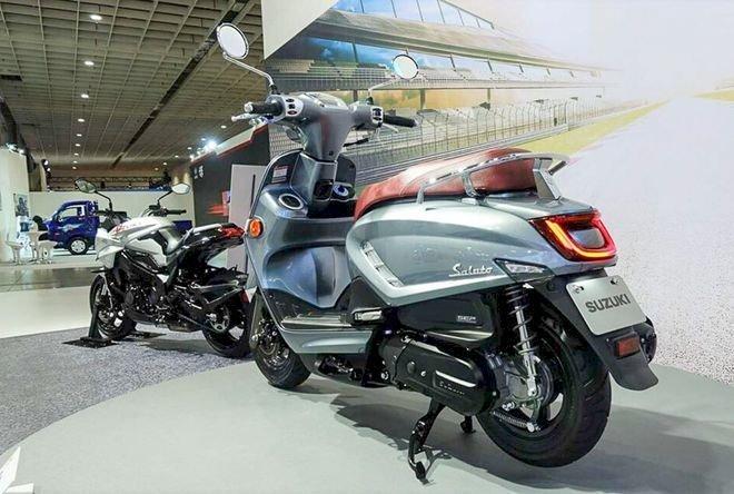 Xe tay ga Suzuki Saluto 125 dáng cổ điển, tham vọng cạnh tranh Vespa(2)