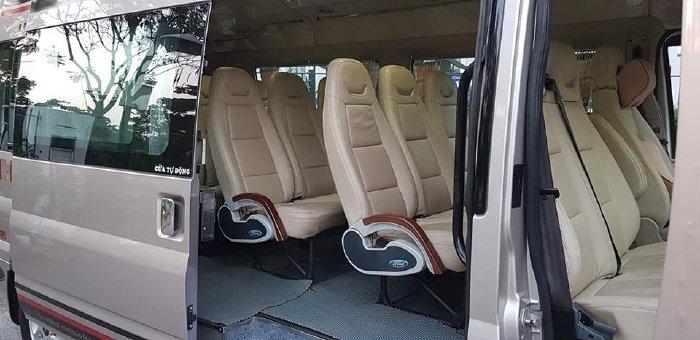 Ford Transit 2014, số sàn, máy dầu, luxury, bản Full, màu xám