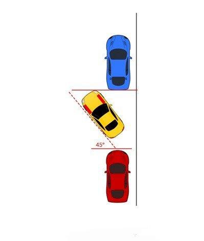 Trả thẳng lái và lùi xe