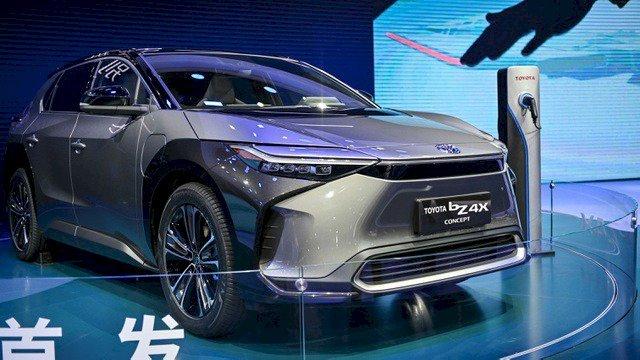 Tuy mới chỉ là mẫu xe concept, nhưng đây sẽ là sự khởi đầu cho Toyota trên thị trường xe chạy thuần điện. Ảnh: Getty Images.