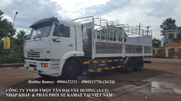 Bán tải thùng 3 chân Kamaz 14 tấn , Kamaz 65117 thùng 7m8 nhập khẩu Tặng 100% trước bạ