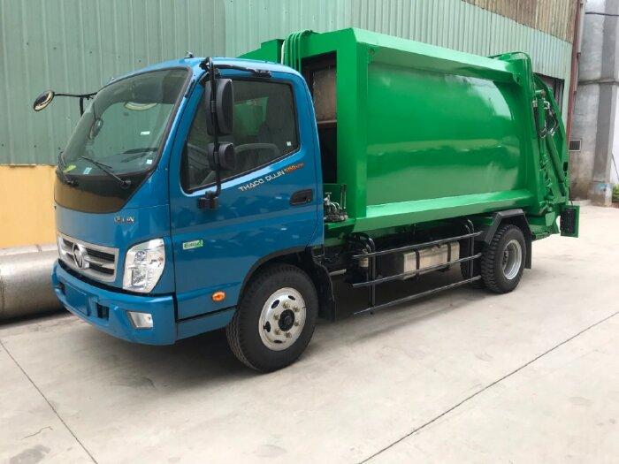 bán xe cuốn ép rác thaco 500 thùng inox 8 khối