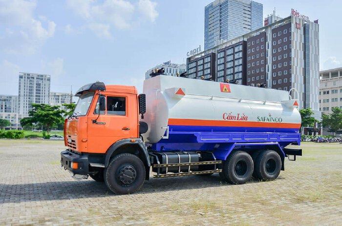 Xăng dầu Kamaz 53229 bồn 18m3